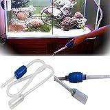 Aquarium - Tubo de limpieza para acuario con filtro para tanque de peces, con bomba de sifón