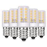 Albrillo 5er Pack 3.5W E14 LED Lampe matt 310lm, 3000k warmweiß LED Birnen ersatz 40W Glühlampe, E14 Energiesparlampe für Kühlschrank, Tischlampe