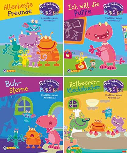 4er Gut gebrüllt, liebe Monster! 1-4: Geschichten aus der Monsterschule (Nelson Mini-Bücher)