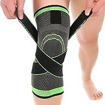 Ueasy 1par Fitness rodilla Brace rodillera transpirable manga para deportes, alivio de dolor en las articulaciones, artritis y lesiones recuperación