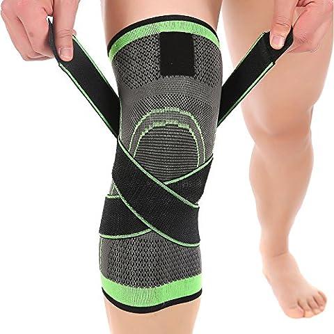 Ueasy 1paio fitness Ginocchiera traspirante ginocchio supporto Sleeve per sport, dolori articolari, artrite e lesioni