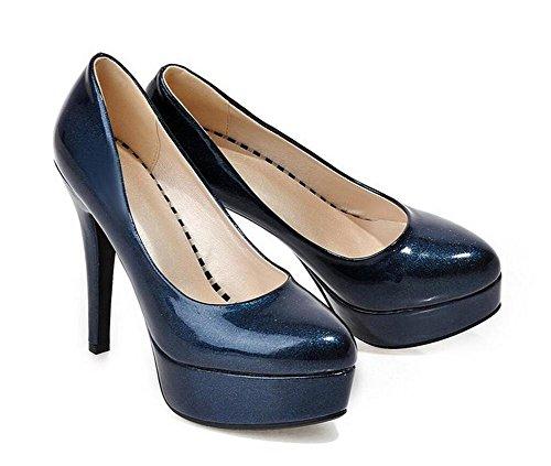 ufficio casual scarpe con tacchi alti corte era scarpe significativamente sottile blue