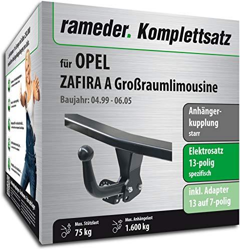 Rameder Komplettsatz, Anhängerkupplung starr + 13pol Elektrik für OPEL Zafira A Großraumlimousine (117031-04044-1)