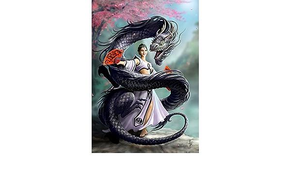 Winged compagnons Carte de vœux par Anne Stokes