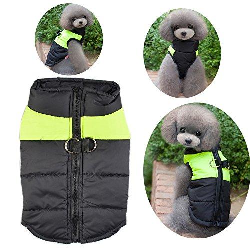 Kostüm Samojede (Wasserdichter Hundemantel Jacke weihi Warm Padded Puffer Soft Pet Hund Welpen Kleidung Kostüm Pullover für kleine medium Große)