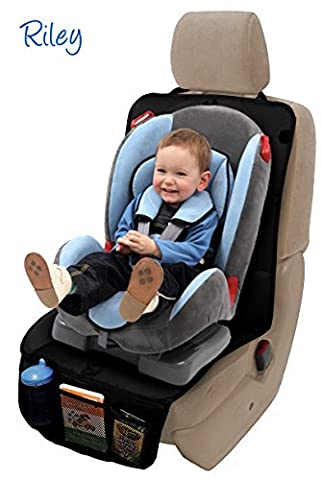 RILEY Infant Car Seat Protector. Full Size Child & Baby Auto Seat Protector Mat. Perfect For Leather And Cushion Seats. Protects From Scratches, Indentations, Tears And Spills