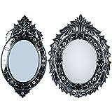 MADHUSUDAN GLASS WORKS Mirror & Plywood Wall Mirror (Pack Of 2, Silver) - B07BJ4B9Y9
