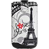 Omenex Akashi Housse pour Téléphone Portable Taille XL Motif Paris Love