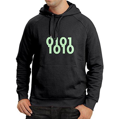 N4049H Binärcode lustiges Geschenk, Langarm Kapuzenpullover