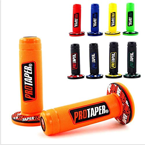 "Motorrad Protaper Grips Motocross Grip Lenker Dirt Pit Bike 7/8""Lenker Gummi Gel Dual Density MX Grips Cyclist store (Farbe : Orange)"