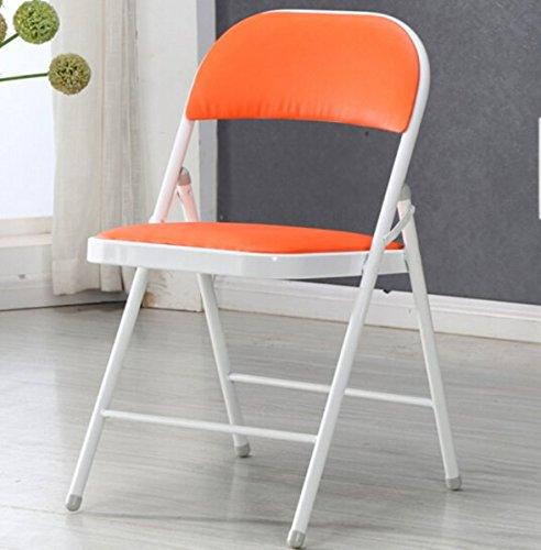 Folding Tabouret Chaise avec dossier simple acier de pliage lehrstuhl pour ordinateurs Chair Bureau Chair jaune