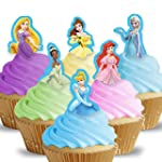 Cakeshop 12 x PRE-CUT Disney Princess...