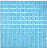 Mosaik Fliese Transluzent Glasmosaik Crystal hellblau für WAND BAD WC DUSCHE KÜCHE FLIESENSPIEGEL THEKENVERKLEIDUNG BADEWANNENVERKLEIDUNG Mosaikmatte Mosaikplatte