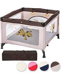 TecTake Parque para bebé cuna infantil de viaje portátil altura ajustable - disponible en diferentes colores -
