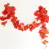 #7: Samriddhi artificial Leaves Garlands/Creepers For Decoration - Pack Of 4 (Assorted Shapes/Shapes As Per Stock)