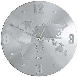 kare 30091 horloge murale carte du monde cuisine maison. Black Bedroom Furniture Sets. Home Design Ideas