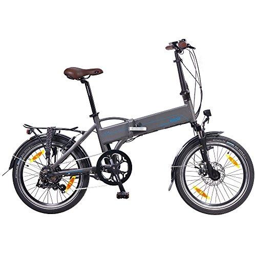 NCM Madrid 50,8 cm para Bicicleta Eléctrica E-Bicicleta Plegable E-Bike ALU 36 V 250 W Batería Li-Ion...