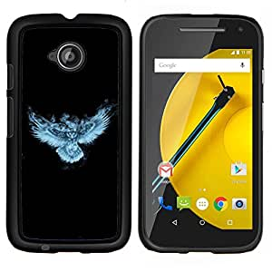 Omega Covers - Snap on Hard Back Case Cover Shell FOR MOTOROLA MOTO E ( 2ND GEN. ) - Glowing Fantasy Night Owl