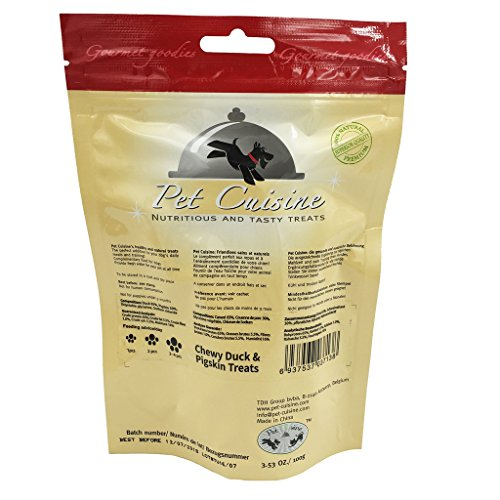 Pet-Cuisine-Dog-Training-Snacks-Puppy-Chews-Jerky-Treats-Chewy-Duck-Pigskin-Treats-100g