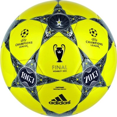 adidas Fussball Finale Wembley Capitano, vivid yellow s13/black/lead, 5, Z20594 -