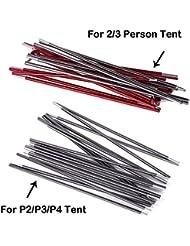 topnaca® Varilla de aluminio Carpa Polo accesorios de repuesto para topnaca tienda, For P3 Tent