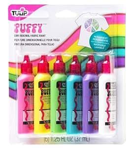 Tulip - Pittura 3D per tessuti, per bordature e rilievi, confezione da 6