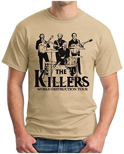 OM3 THE KILLERS WORLD DESTRUCTION TOUR - T-Shirt Punk Rock Hardrock Music Parody Geek, S - 5XL Khaki