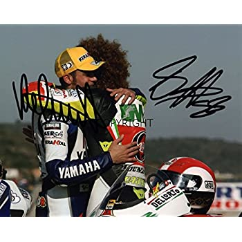 LIMITED EDITION VALENTINO ROSSI MARCO SIMONCELLI MOTO GP SIGNED PHOTOGRAPH  + CERT PRINTED AUTOGRAPH b76d439a3ddd