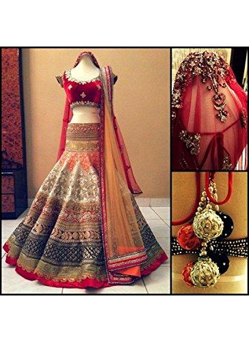 RAMAPIR FASHION Women\'s Designer lehenga choli multi