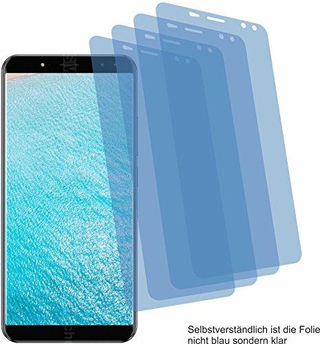 4ProTec 4X Crystal Clear klar Schutzfolie für Ulefone Power 3 Bildschirmschutzfolie Displayschutzfolie Schutzhülle Bildschirmschutz Bildschirmfolie Folie