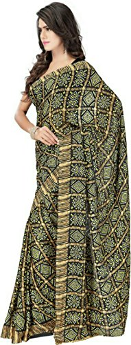 Stylish Sarees Women's Crepe Saree With Blouse Piece (H A G 7...