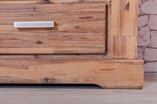 Möbelkultura COL-1Wohnwand tv-schrank, Vitrine Bücherschrank, Holz, braun / grau, 70 x 174 x 200 cm - 5