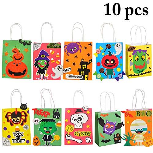 Joyibay 10 stÜcke Halloween SüßIgkeiten Tasche DIY Cartoon SüßEs Oder Saures Tasche Tasche