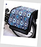T-JOY-44 Fahrradtasche JOY Heart Ocean Kinderfahrradtasche Satteltasche Gepäckträgertasche 2 x 5 Liter KINDER