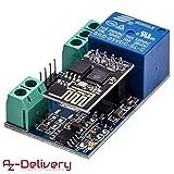AZDelivery  ESP8266-01S ESP-01 WLAN WiFi Modul mit Relais Adapter für Arduino mit gratis eBook!