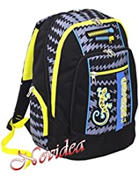 0590fe7379 ZAINO SCUOLA SEVEN NEW ADVANCED GECKO BOY NERO ERGONOMICO E FOSFORESCENTE