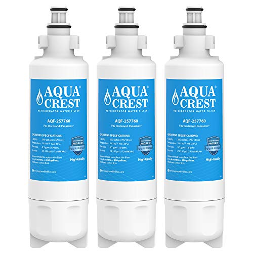 AQUACREST Kühschrank Wasserfilter, kompatibel mit Panasonic CNRAH-257760, CNRBH-125950 (3)