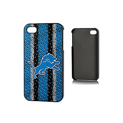 NFL Detroit Lions iPhone 4/4S Polymer Snap Case, Blue/Silver