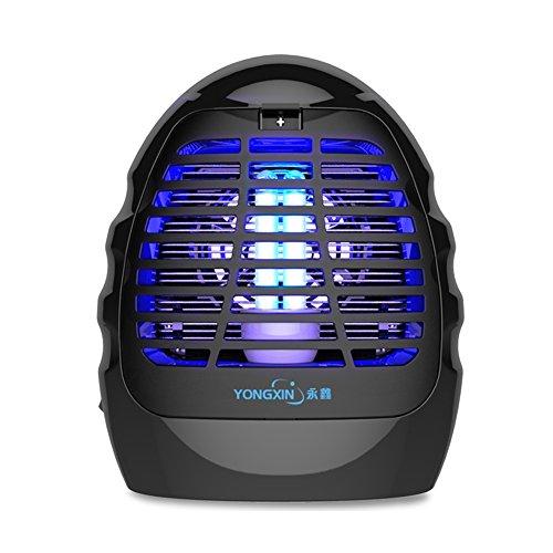 QIDI Elektronischer Mückenkiller Schwarz Haushalt LED Keine Strahlung Leise Moskitofänger