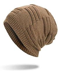 Unisexo Gorras Mujer Gorros de Beisbol Punto Sombreros de Invierno Hombre  Sombrero de Lana sintética Calentador 58616a371db