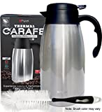 Best Thermal Beverage Dispensers - Thermal Coffee Carafe Stainless Steel - Heavy Duty Review