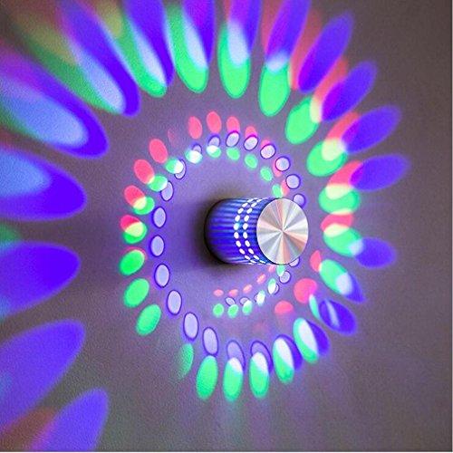 3W LED Wall Light Lampe Wand-Moderne Aluminium Effekt Moderne für Kinderzimmer Schlafzimmer Wohnzimmer Badezimmer Flur Wall Spannung D Beleuchtung 90-260V V [Energy Class A +] 1