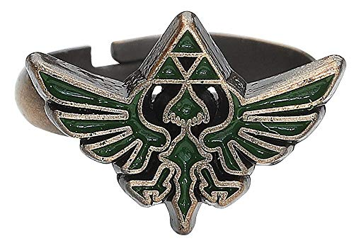 The Legend of Zelda - Ring with Green Triforce Logo - Maat M
