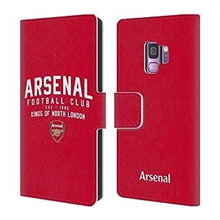 Head Case Designs Offizielle Arsenal FC Kings of North London 2018/19 Typografie Brieftasche Handyhülle aus Leder für Samsung Galaxy S9