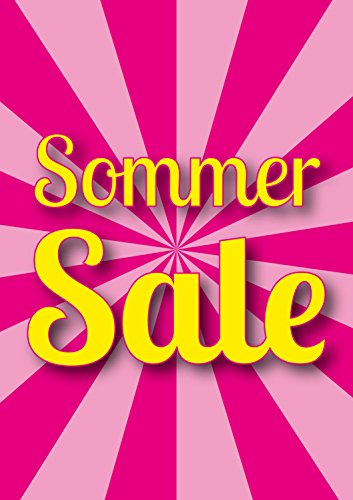 Poster Plakat - SSV Sommer SALE Candy DIN A1 2Stk. im Kundenstopper Sparset