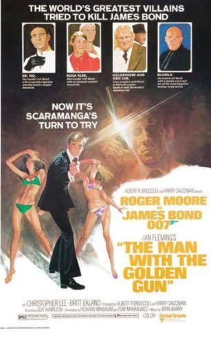 James Bond Film Poster – Man With The Golden Gun – NEU (Gun-filme)