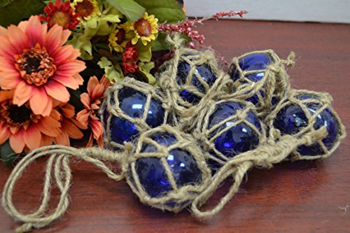 Float-glas (6Pcs Kobalt Blau Reproduktion Glas Float Angeln Boje Ball 5,1cm)