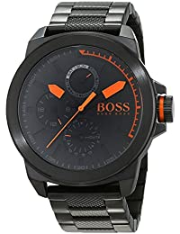 Hugo Boss Orange New York Men's Quartz multi dial Black Stainless Steel Bracelet 1513157