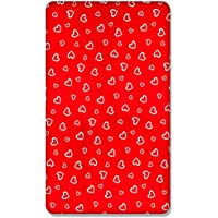 BABY FITTED COT BED SHEET PRINTED100/%COTTON MATTRESS140x70cm Red Hearts on White