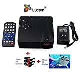Lucem Portable 3D LED PROJECTOR+Three 3D...